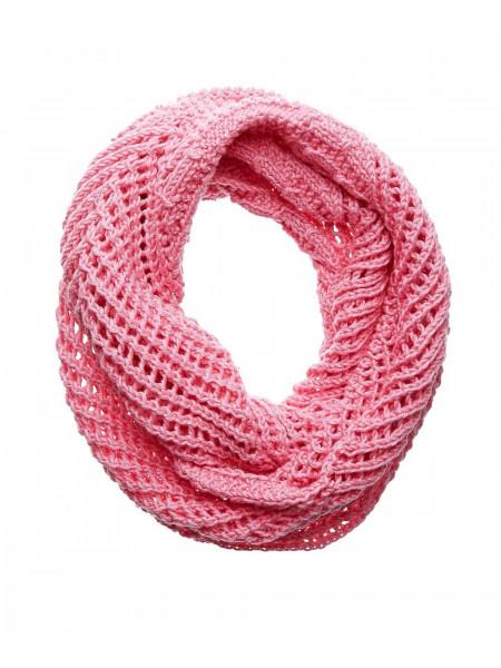 Розовый шерстяной шарф