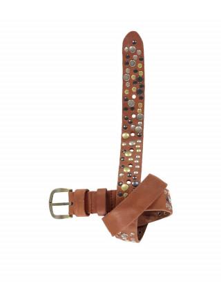 Ремень кожаный коричневого цвета