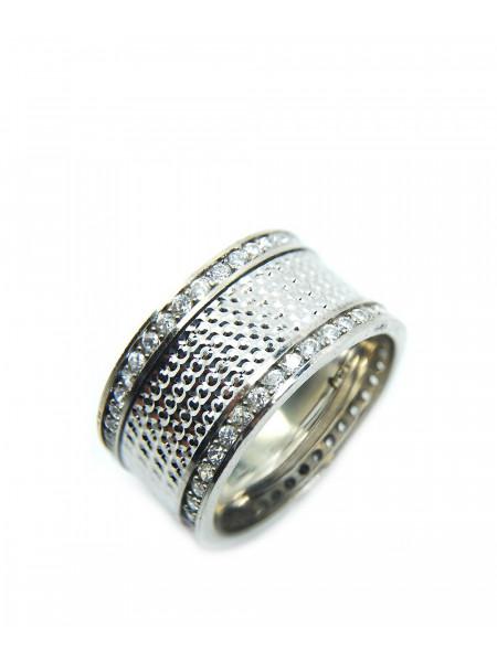 Кольцо серебряное с камнями Swarovski