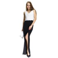 Платье Furla черно-белое