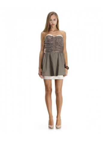 Платье женское коричневого цвета