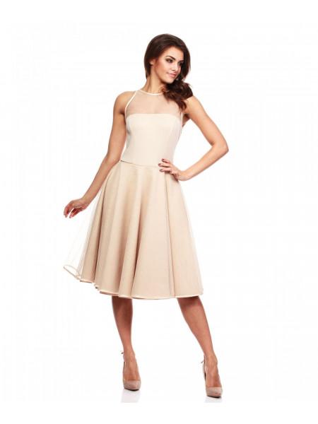 Платье женское бежевого цвета летнее