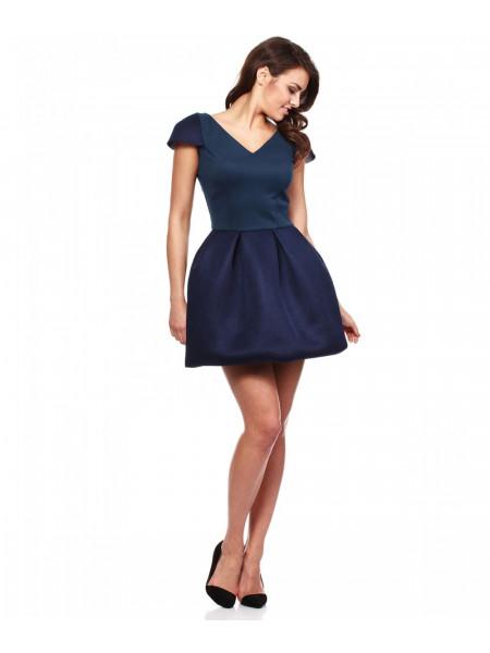 Платье женское короткое темно-синее