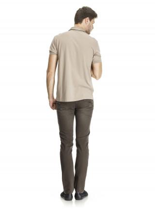 Поло Armani Jeans бежевое