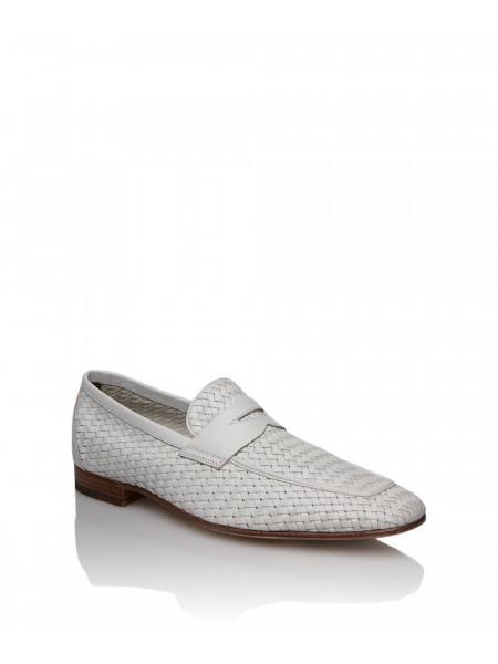 Туфли кожаные белого цвета