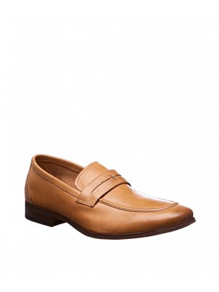 Туфли кожаные светло-коричневые