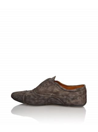 Туфли замшевые коричневого цвета
