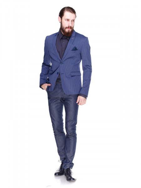Пиджак Lacoste синий в полоску
