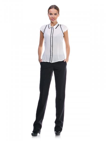 Блуза женская Lanvin черно-белая
