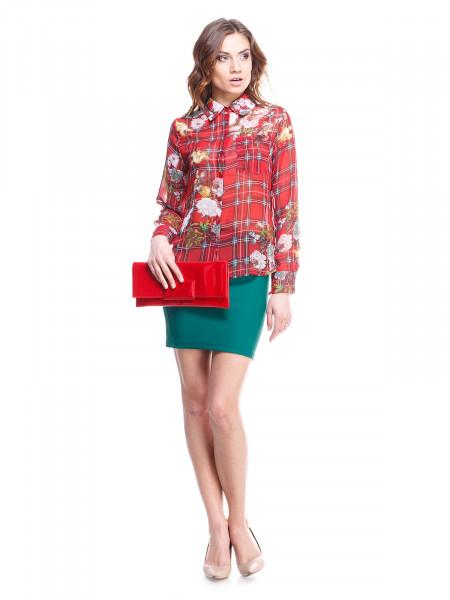 Блуза женская Lanvin красная в принт