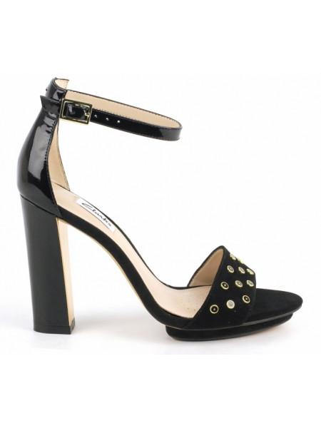 Босоножки женские Clarks черные на каблуке