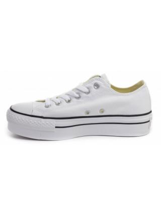 Кеды женские Converse белые на платформе