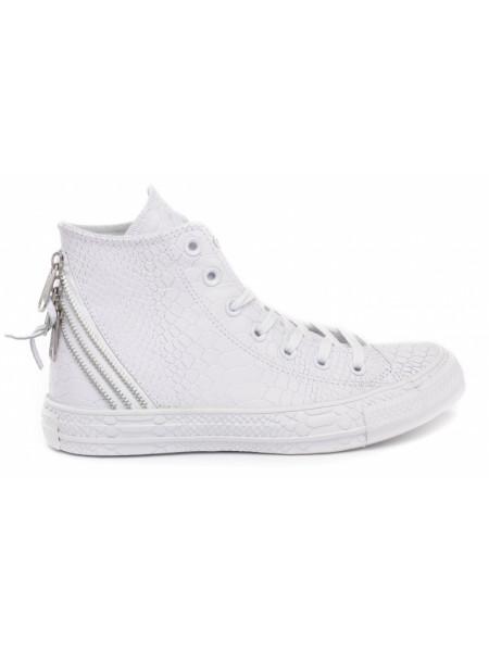 Кеды женские Converse белые под рептилию