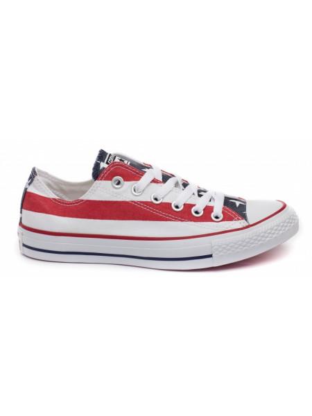 Кеды женские Converse в красную полоску