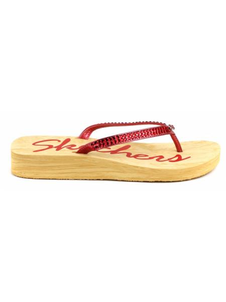 Вьетнамки женские Skechers красные