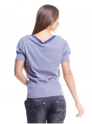 Джемпер женский Lacoste синий в полоску