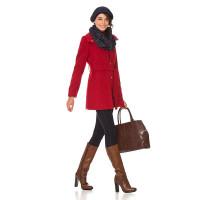 Пальто женское Savage красное